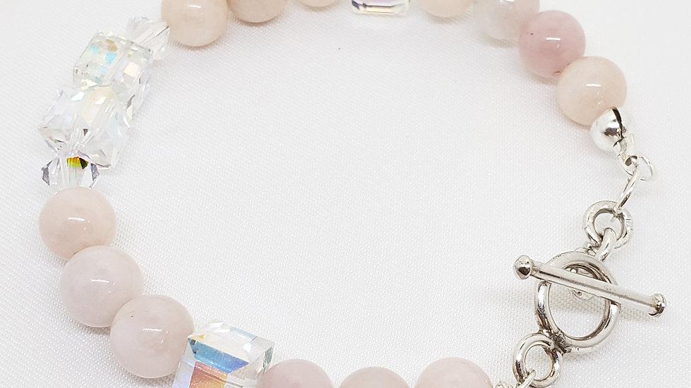 Elegant Morganite Toggle Bracelet