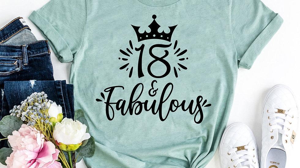Eighteen & Fabulous T-shirt
