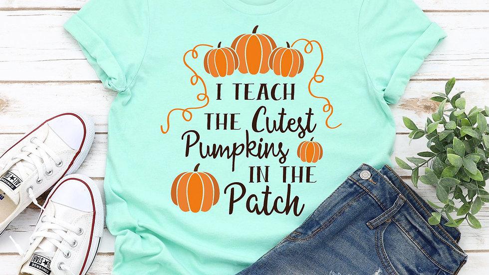 I Teach the cutest pumpkins T-shirt
