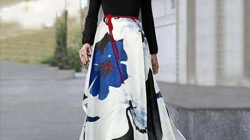 Elegant V-neck Long Maxi Dress