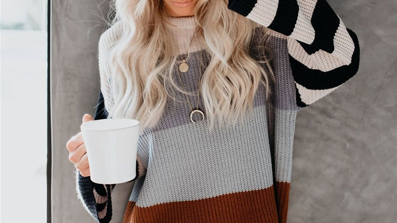 Women Knitted Loose Jumper Sweaters