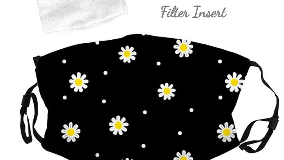 Daisy Floral Mask With Filter Insert