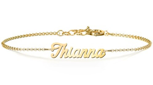 Personalized 10K Gold Name Bracelet