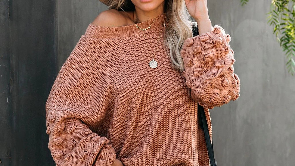 Women Loose Knitted Pullover Winter Sweater