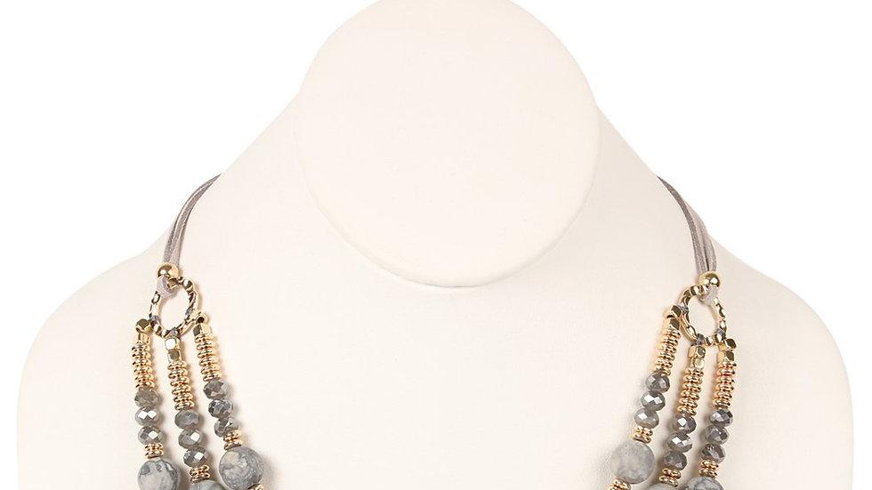 Three Layer Stone Necklace