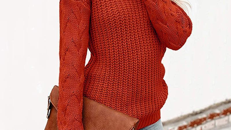 Autumn Winter Long Sleeve High Neck Pullover Sweater