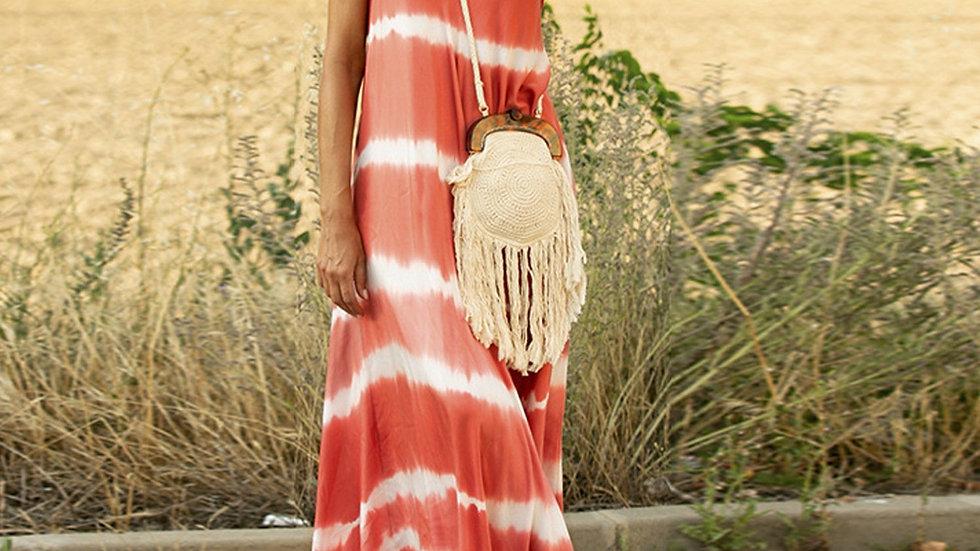 Sleeveless Tie-dye Long Dress