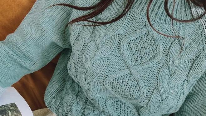 Knitted Crochet Autumn Winter Sweater