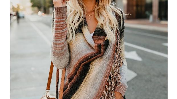 Fringed Sweater Sweater Shawl Coat
