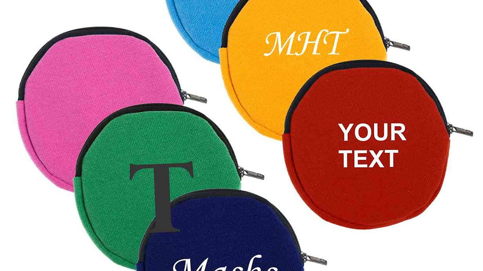 Personalized Round Cotton Canvas Pouch