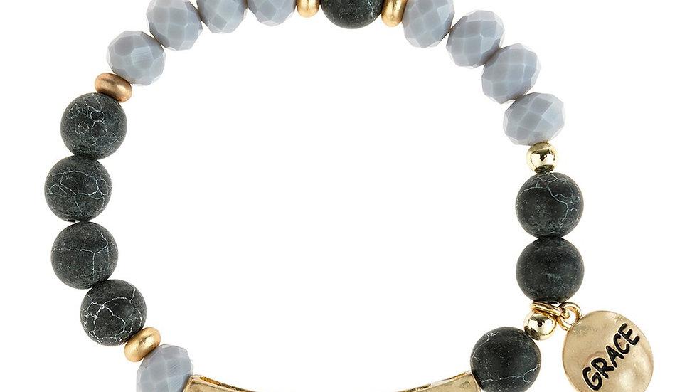"Hdb3005 - ""Grace"" Mixed Beads Charm Braclet"