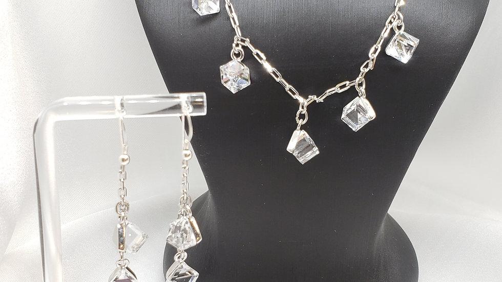 Swarovski Crystal Necklace Earring Set