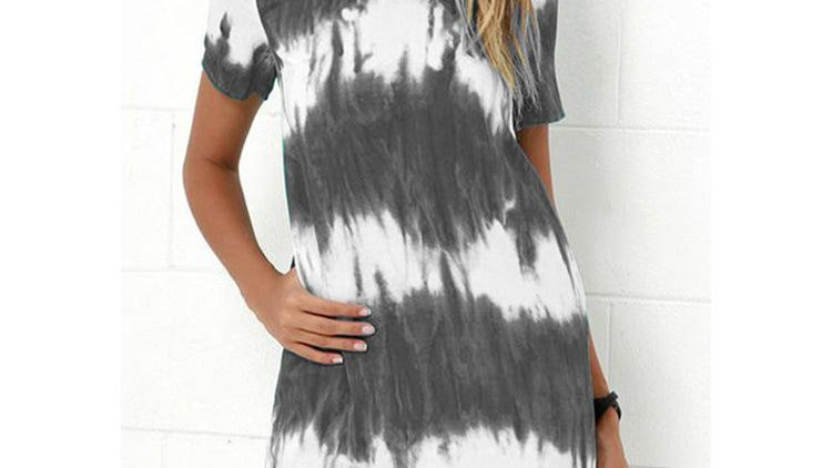 Gladiator Color Tie-dye Short Dress