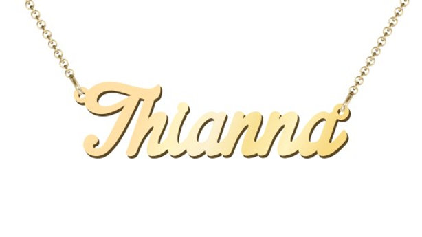 Personalized 10K Gold Name Necklace