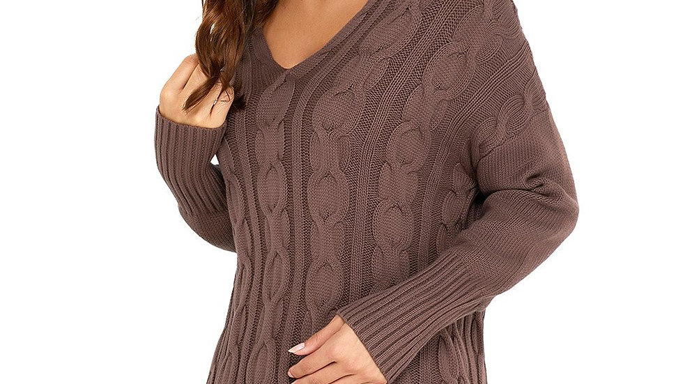 Mocha Oversized Cozy up Knit Sweater