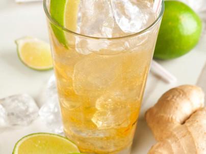 Limonada estimulante de jengibre y limón