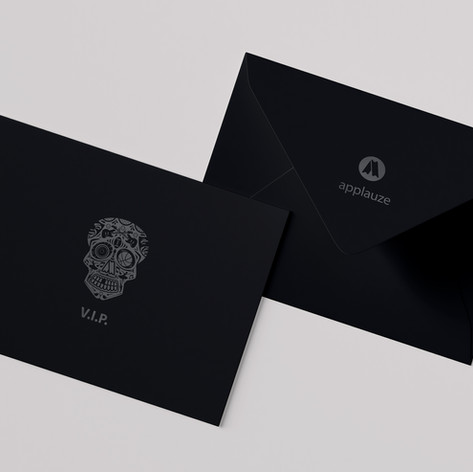 Applauze VIP Skull Envelope