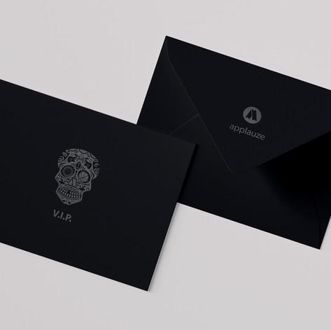 Applauze VIP Skull Envelope