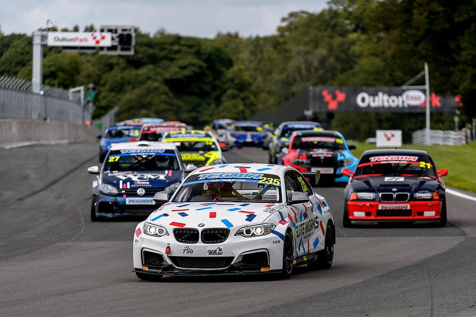 Elite Works Motorsport BMW M235iR at Oulton Park race circuit.