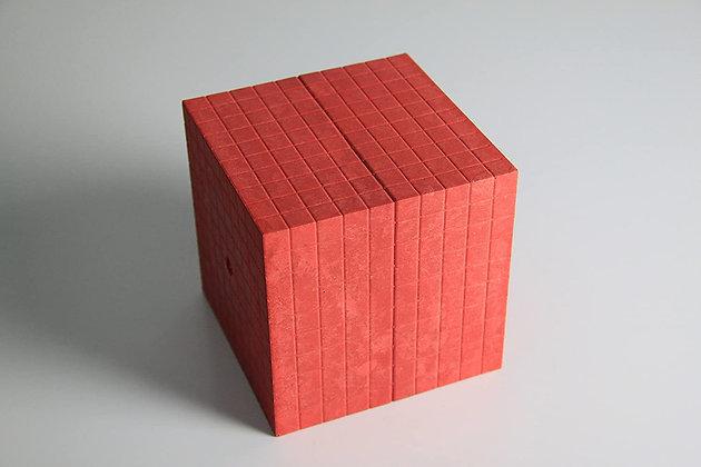Cube de 1000 rouge