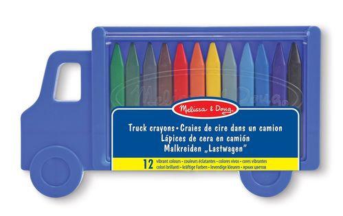 Boite de 12 crayons camion