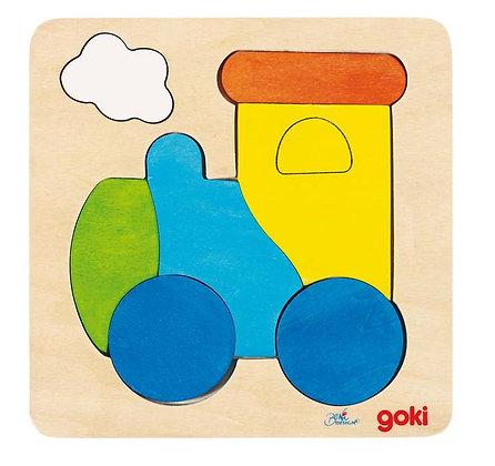"""Premier puzzle en bois """"train"""""""