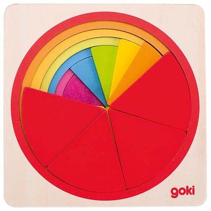 Disques colorés en bois Goki