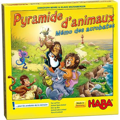 Pyramide d'animaux Mémo des acrobates