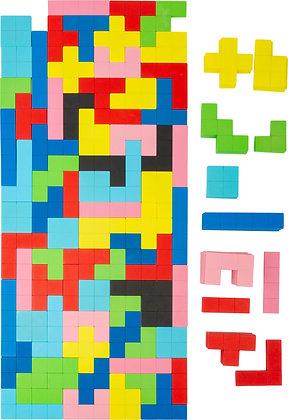 """Puzzle """"Tetris"""" en bois"""