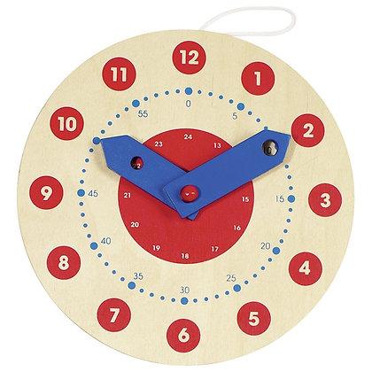 Horloge d'apprentissage en bois
