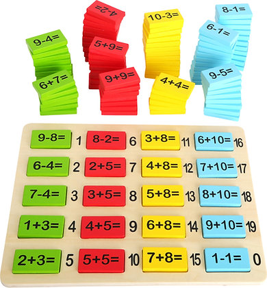 Planche des opérations mathématiques