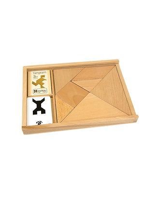 Jeu de Tangrams en bois avec modèles