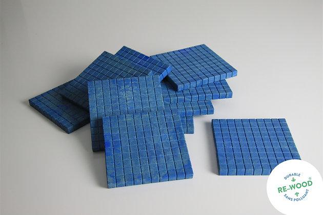 Lot de 10 plaques de 100 Bleues