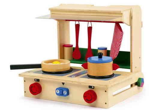 Valise cuisine en bois pour enfant