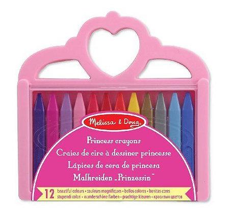 Boîte de 12 crayons triangulaires princesse