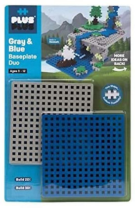 Base de Construction Grise & Bleue