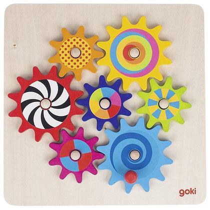puzzle engrenages en bois