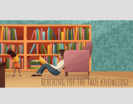 Reaching for the True Knowledge – bookmark