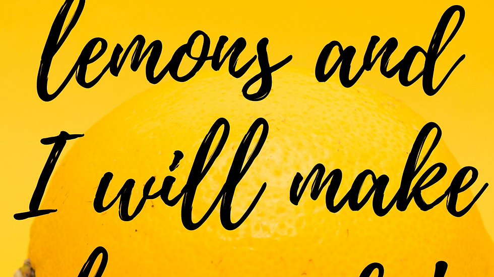 Lemons into Lemonade Word Art