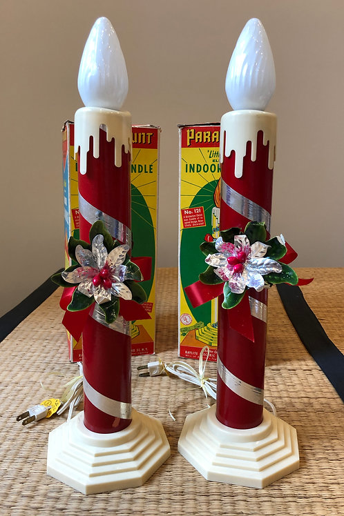 Vintage Paramount Indoor Christmas Candle Set