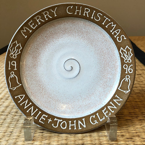 Sen. John Glenn Christmas Gift Plate from 1996