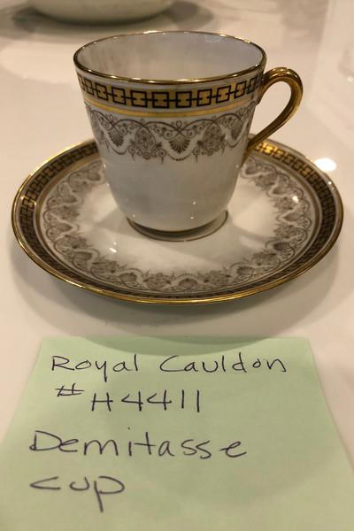 Royal Caldron China Demitasse Cups