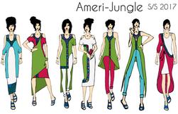 Ameri-Jungle Illustrations