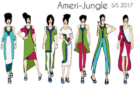 Ameri-Jungle Illustrations