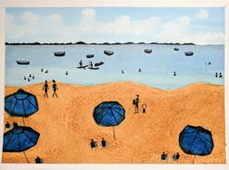 Watercolor Brazilian Beach