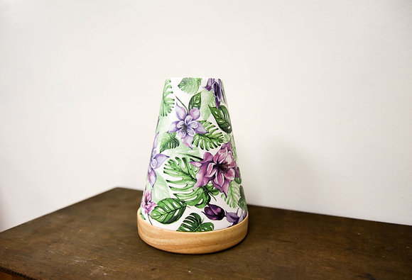Bright tropical candle holder