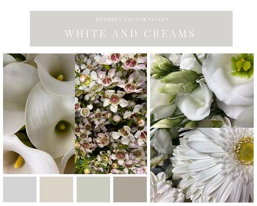 Cream and white bouquet