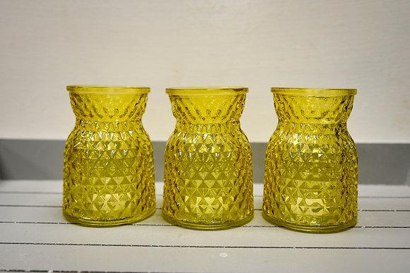 Glass vase, Yellow