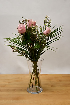 3 Avalanche pink roses
