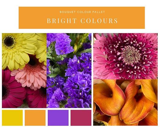 Bright colour bouquet